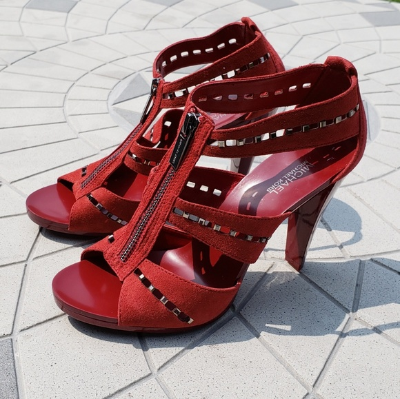 77ec3ef0a9d6 MICHAEL Berkley Punch Cut-Out Studded Sandals 6. M 5b787521e944ba4481271032